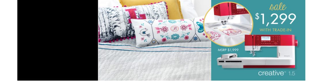 creative 1.5 embroidery sewing machine